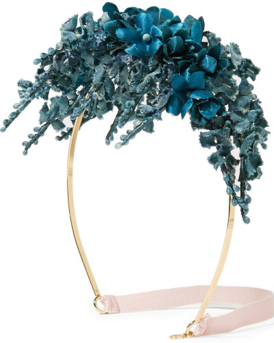 Haarband aus Satin mit Blumendetails