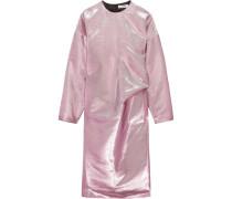 Kleid Aus Einer Metallic-baumwollmischung - Pink