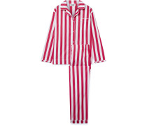 Bishop Pyjama Aus Gestreifter Baumwolle -