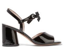 Wilde Sandalen Aus Lackleder Mit Kristallverzierung -