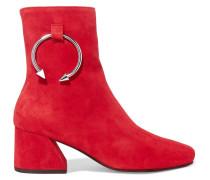 Nizip Verzierte Ankle Boots Aus Veloursleder -