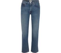 Halbhohe Jeans mit Geradem Bein -
