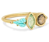 Maya Leaf Ring Aus 18 Karat  Mit Mehreren Steinen
