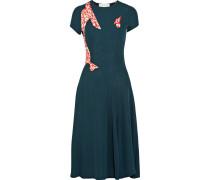 Tango Kleid Aus Stretch-strick Mit Bedruckten Einsätzen -