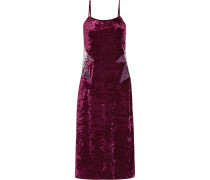 Starburst Slipdress Aus Samt In Knitteroptik -