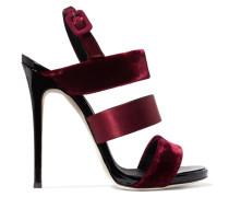 Slingback-sandalen Aus Samt, Satin Und Lackleder -