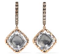 Caprice Cushion Ohrringe aus 14 Karat  mit Diamanten und Quarzen