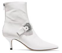 Saloon Ankle Boots Aus Lackleder Mit Schnallenverzierung -
