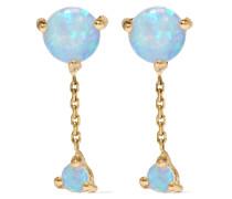 Two Step Ohrringe aus 14 Karat  mit Opalen