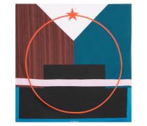 Bedrucktes Tuch aus Seiden-Twill 90 x 90 cm