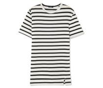 T-shirt Aus Baumwoll-jersey Mit Streifen -