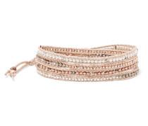 Silberfarbenes Armband mit Swarovski-kristallen und Perlen -