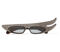 Verzierte Sonnenbrille mit Cat-eye-rahmen aus Azetat -