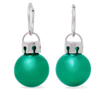 December Ball Ohrringe Aus Harz Mit Silberfarbenen Details -
