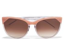Swappy Sonnenbrille Mit Cat-eye-rahmen Aus Azetat - Puder