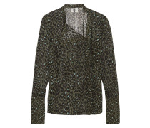 Rosalind Bluse aus Seiden-Georgette mit Leopardenprint