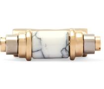Ring mit Gold- und Palladiumauflage und Obsidian