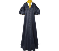 Farola Zweifarbige Robe aus Seidenorganza