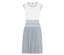 Kleid Aus Jacquard-strick Mit Falten -