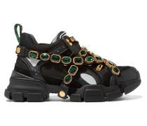Flashtrek Sneakers aus Mesh, Veloursleder und Leder