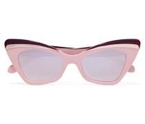 Babou Verspiegelte Sonnenbrille Mit Cat-eye-rahmen Aus Azetat Und Silberfarbenen Details -