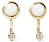 Gravitation Ohrringe Aus Gold Mit Opalen Und Diamanten
