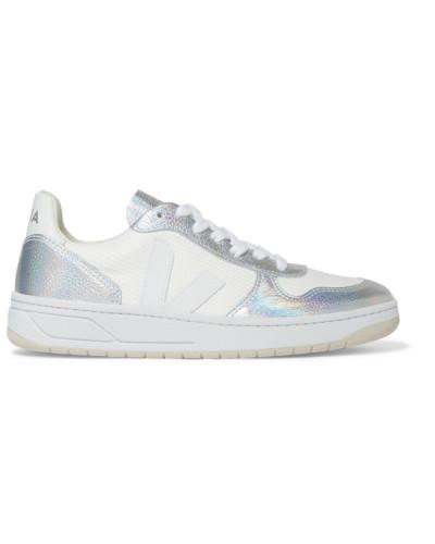 + Net Sustain V-10 Sneakers aus Canvas und Changierendem Metallic-leder