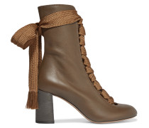 Harper Ankle Boots Aus Strukturiertem Leder -