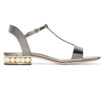 Casati Verzierte Sandalen Aus Lackleder In Metallic-optik -