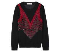 Powell Verzierter Pullover Aus Merinowolle - Schwarz