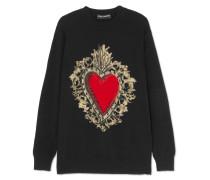 Pullover aus einer Wollmischung mit Intarsienmuster -