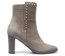Harlow Ankle Boots Aus Veloursleder Mit Verzierungen - Grau