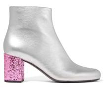 Babies Ankle Boots Aus Metallic-leder - Silber