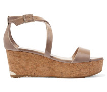 Portia 70 Wedges aus Lackleder -