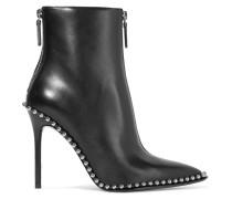 Eri Ankle Boots Aus Leder Mit Nieten -