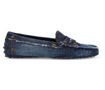 Gommino Loafers Aus Denim -