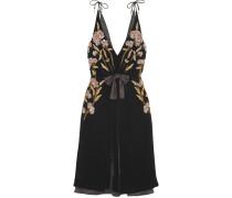 Lisabetta Kleid Aus Samt Mit Verzierungen Und Stickereien -