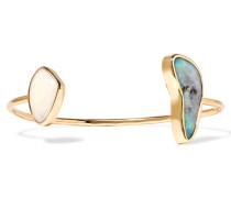 Armspange Aus 14 Karat Gold Mit Boulder-opalen