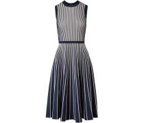 Zweifarbiges Kleid aus Stretch-strick -