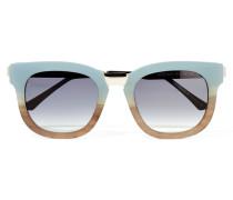 Arbitrary Sonnenbrille Mit Cat-eye-rahmen Aus Azetat Mit Silberfarbenen Details - Hellblau