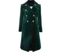 Doppelreihiger Mantel Aus Samt Aus Einer Baumwollmischung -
