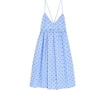 Besticktes Kleid aus Baumwoll-Piqué