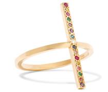 Ring Aus 18 karat Gold Mit Diamanten Und Mehreren Steinen