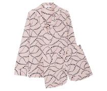 Lillian Bedruckter Pyjama Aus Vorgewaschener Seide -