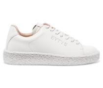 Ace Sneakers Aus Leder Mit Perforation - Weiß