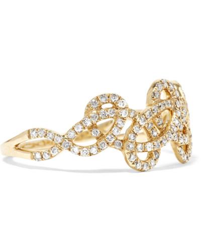 Tatouage Ring aus 9 Karat  mit Diamanten
