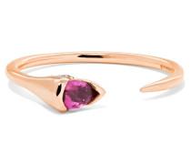 Sprout Ring Aus 18 Karat Rosé Mit Diamanten Und Einem Turmalin