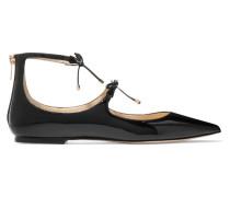 Sage Flache Schuhe Mit Spitzer Kappe Aus Lackleder -
