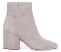 Taye Ankle Boots Aus Veloursleder - Grau