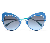 Sonnenbrille Mit Butterfly-rahmen Aus Metall -
